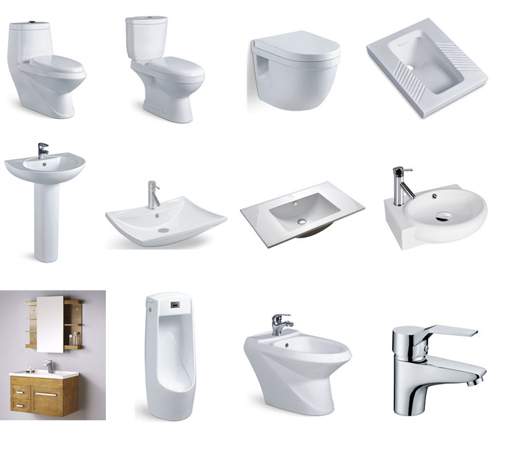 Bathroom sanitary ceramic wash basin for hair salon