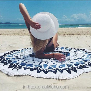 Wholesale microfiber round beach towels mandala