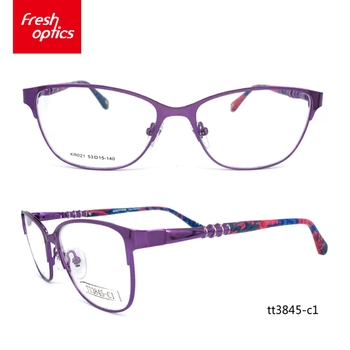Tt3845 Cheap Price Pink Girl Small Oval Metal Glasses Frames - Buy ...