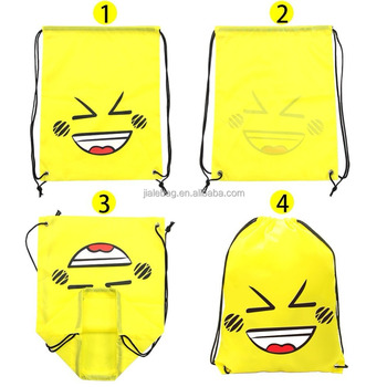 982a9ec35388 School Kids Drawstring Backpack Emoji Custom Cotton Drawstring Bag Cord -  Buy Emoji Drawstring Bag,Custom Cotton Drawstring Bag,Drawstring Bag Cord  ...