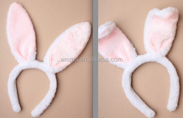 Cute fashion cotton infant bunny ear hair bow headbands stretch baby hair  accessories rabbit ear headband e57d7ba7075