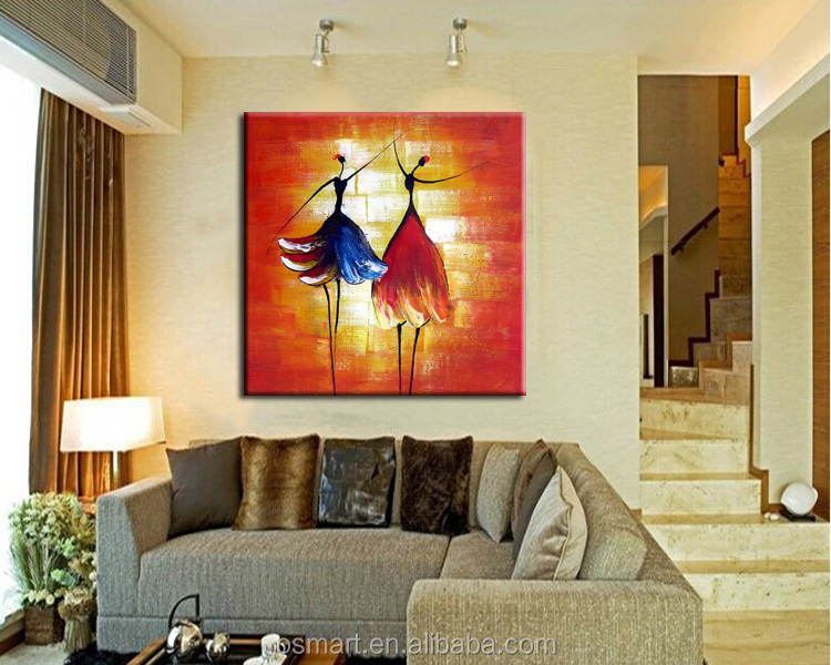 2015 Newly And Hot Item Beautiful Two Abstract Girls Dancing Easy ...