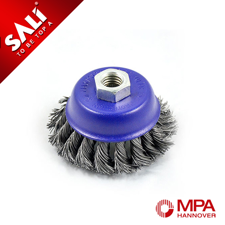 professional steel wire cup brush for car