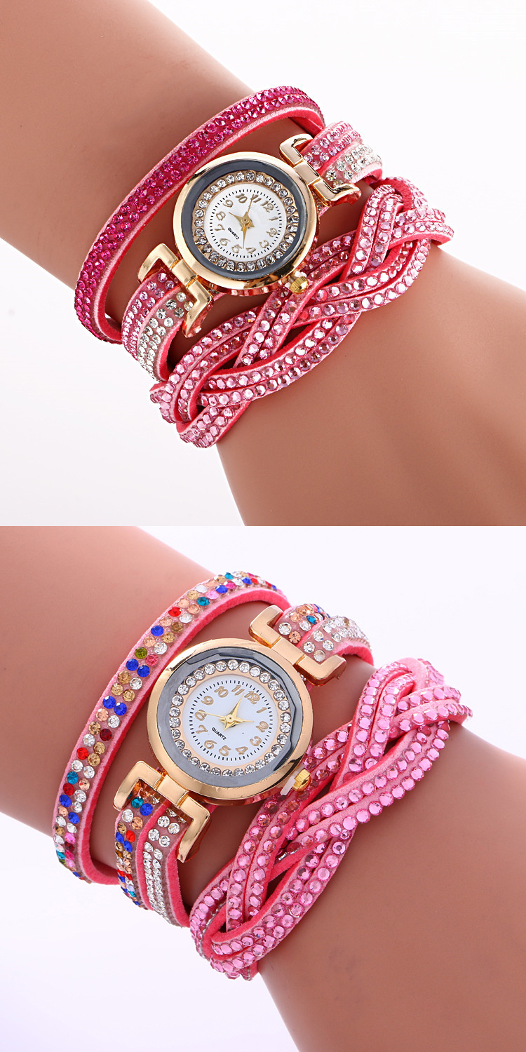 Elegant Fashion colorful lady leather Wrist Watch Female Clock wrist watch women Lady bracelet watch