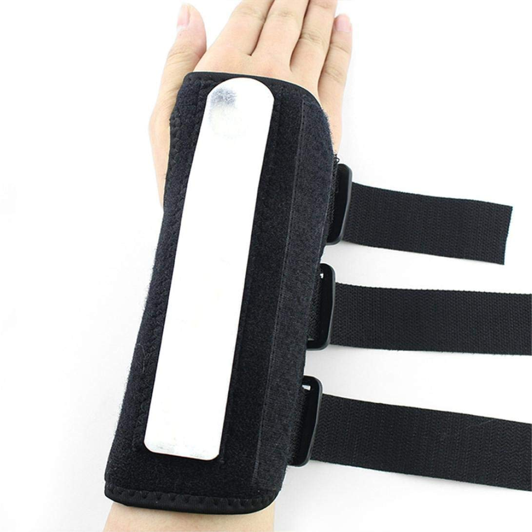 Ikevan 1 Pair Wrist Fixed Support Brace, Sports Safety, Bracers ,Sprain Forearm Splint Band Strap