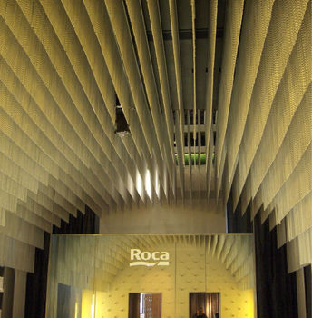 Metall Wandverkleidung Stoff Rezeption Struktur Für Ausstellungen
