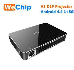 DLP Toumei V3 Projector Android 4.4 OS MSTAR 6A628 Cpu TI 0.45 INCH WVGA DMD*RGBLED Projecting Chipset Smart Projector