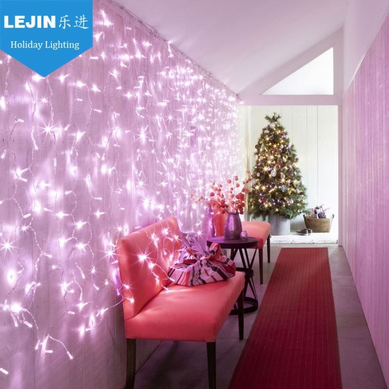christmas decorative pvc wire CE certificates led 220v curtain light