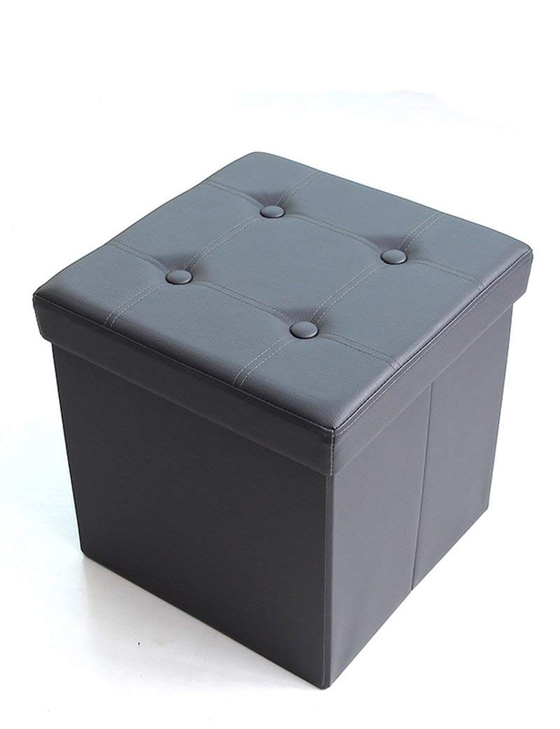 ZHANGRONG- Square Folding Sofa Storage Box Storage Stool Can Be Multi-functional Seat For People To Sit Sofa Stool (Color Optional) (Color : C)