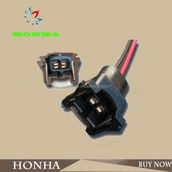 12129142 ev1 gm clip-iwc wire clip plug fuel injector connector auto 2 pin  connectors
