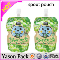 Yason mail carring food bag with clear pouch snack laminated printing pouch 180ml stand up pouch with spout for hair masque