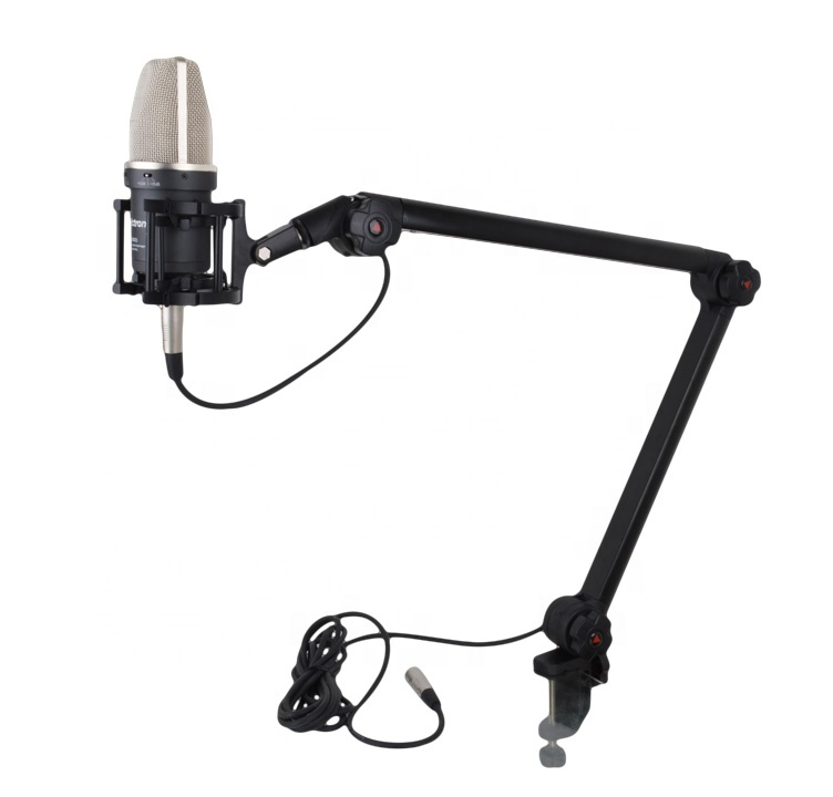 Flexible Adjustable Microphone Stand,Professional broadcasting microphone stand,Suspension Boom Scissor Arm Mic Stand