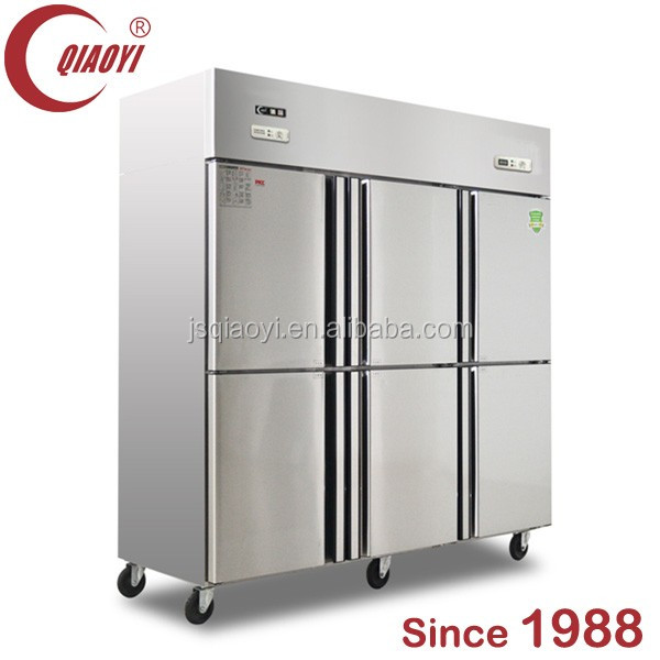 6 door air cooling kitchen food Commercial Refrigerator&freezer