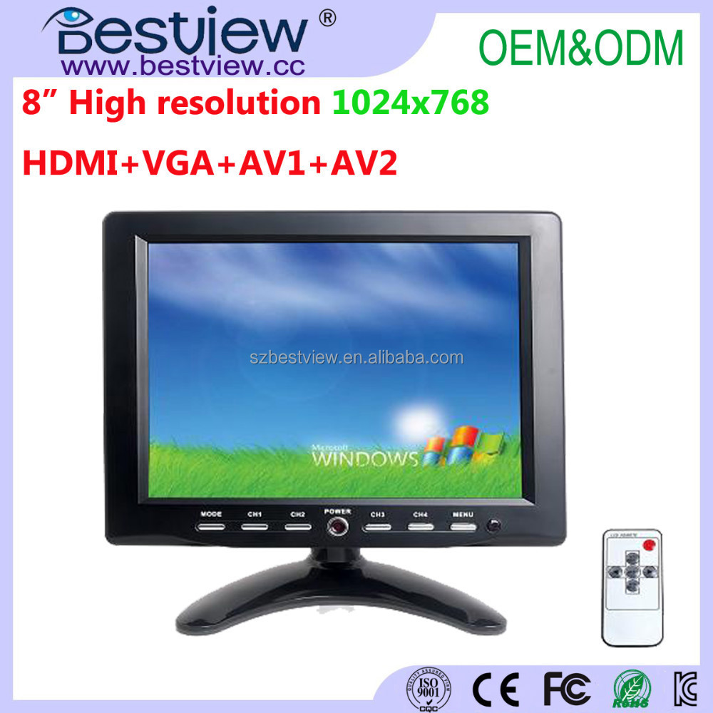 Support Raspberry Pi 8 inch touch monitor high resolution 1024*768 display