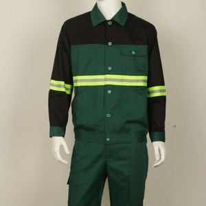 High Visibility Long Sleeve Reflective Clothing Protective Work Uniform Unisex Industrial Safety Clothing