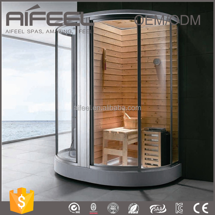 cheap price bathroom dry and wet portable steam sauna room with shower