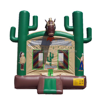 bouncer,inflatable jumping castle west cow boy W1151