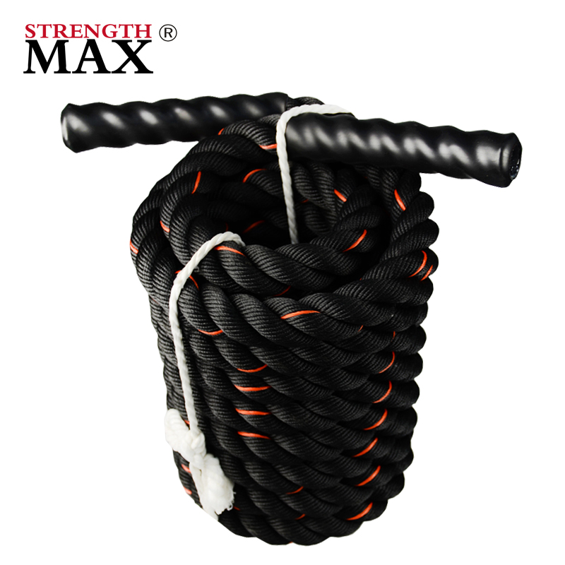 JINLI battle rope exercises crossfit rope jump aluminum rower