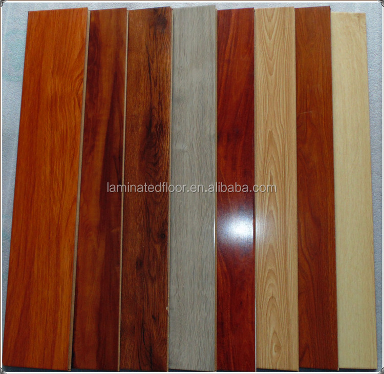 High Gloss Surface Oak Maple Cherry Walnut Indoor Laminate Flooring
