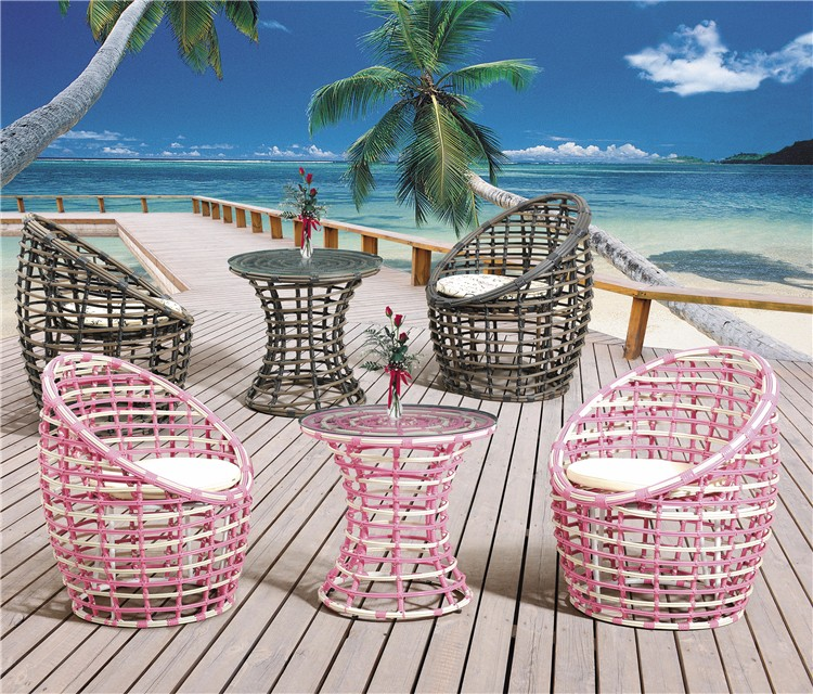 Bali Tea Table And Chair Set Synthetic Rattan Outdoor Furniture