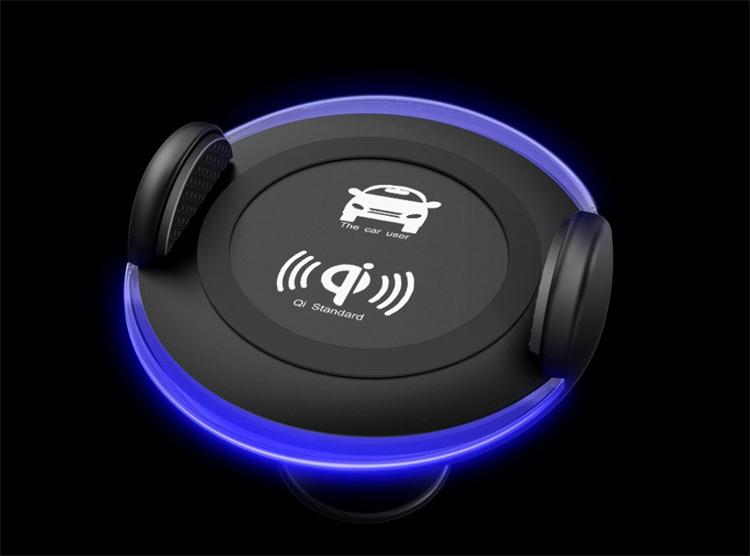 Cordless Cars Phone Holder Wireless Quick Charging Mobile Chargers