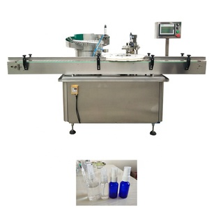 YB-XG Automatic screw capper round PET Spray bottle Rotary capping machine with caps feeder