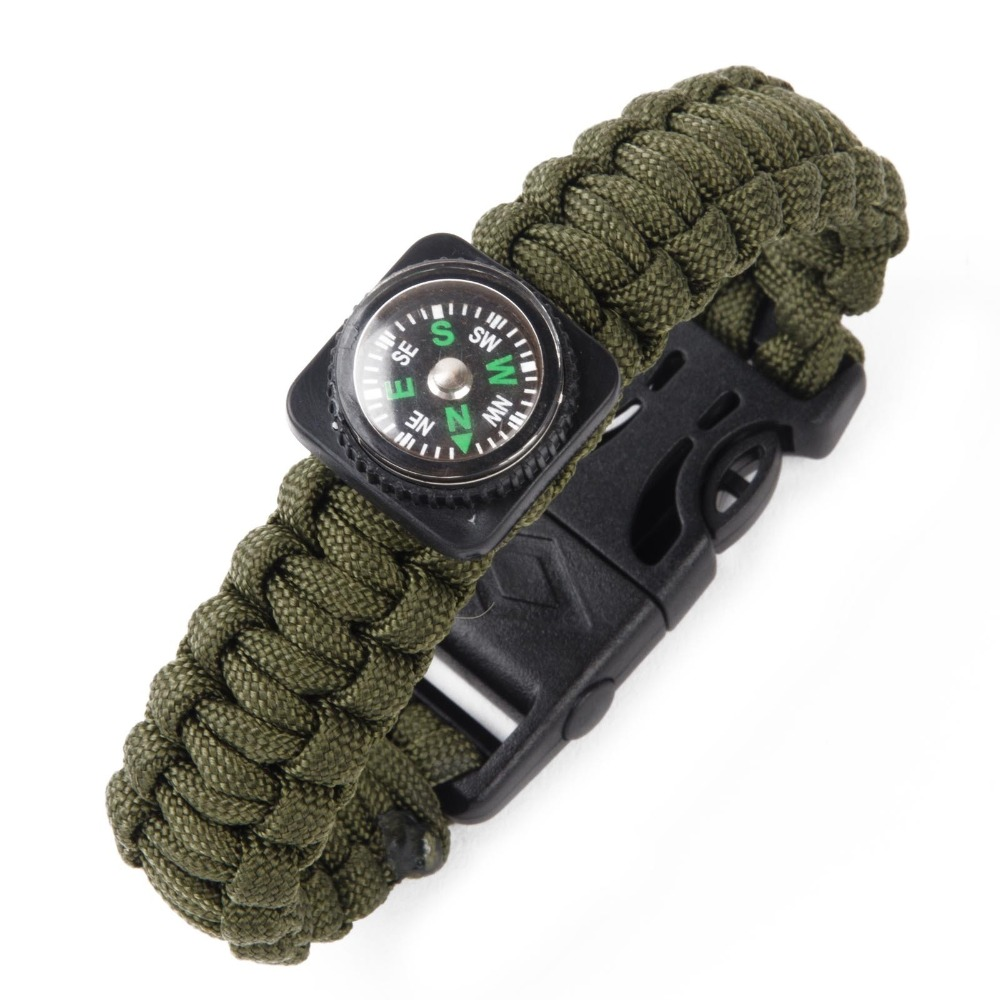2016 Hot Custom Paracord Fashion Bracelet with Ouch and Compass