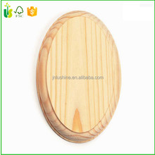Home Decor Oval Base Wooden Plaque Stand Blank
