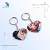 High quality Cheap custom design heart shape digital printing plastic keychains