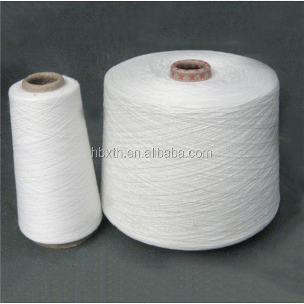 30s /3 raw white 100 PCT polyester spun yarn in Hubei