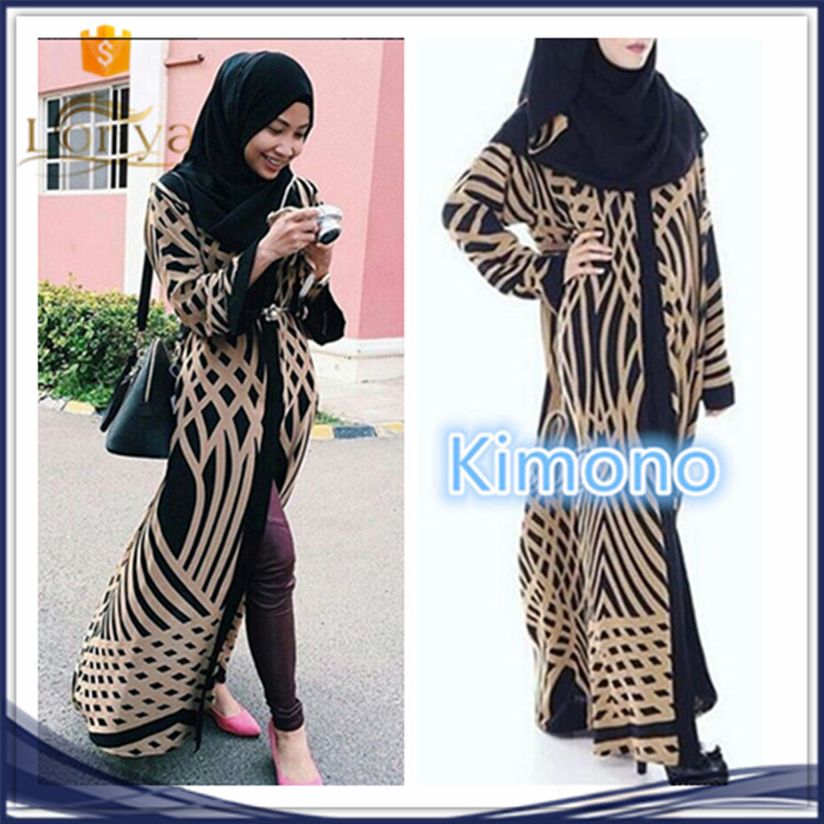 2017 best-selling Islamic kimono cardigan women wear in dubai abaya wholesale