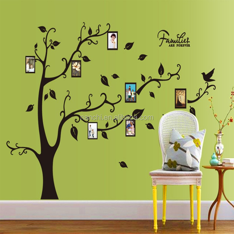 AY9063A PVC Photo Frame Trees Wall Stickers Home Decor Family Tree Wall  Decal Living Room Bedroom Part 82