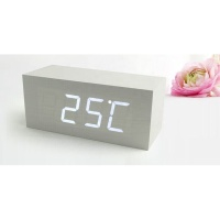 modern home inserts led digital wooden table clock desk alarm clock