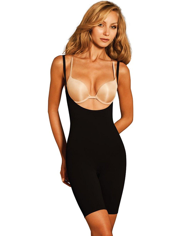 Body Wrap Lites Smooth Catwalk High Waist Black Long Leg Underbust Suit 47305