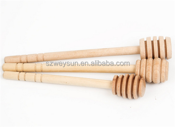 Wooden Honey Dippers Spoon Swizzle Stick