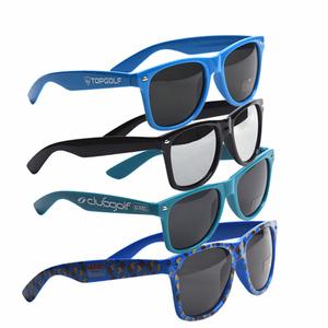 Plastic Promotion Custom Logo Printed Brand Own Name Logo CE UV400 Sun glasses