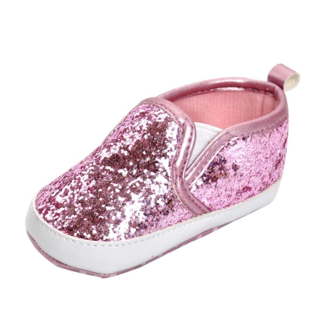 86efb13af96dd0 Get Quotations · Amiley Girls Boys Crib Shoes Soft Sole Anti-slip Baby  Sneakers glitter bling Sequins Shoes