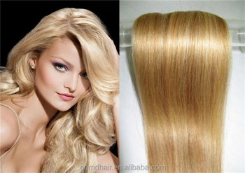 Honey Blonde Color 27 Hair Weave Long Russian Remy Human