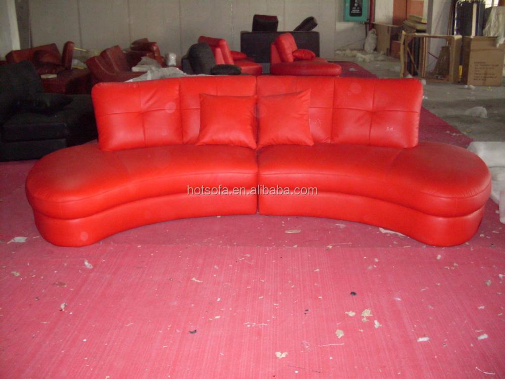 Small Sectional Leather Sofa,Unique Arc Shape Sofa Design H316 - Buy ...