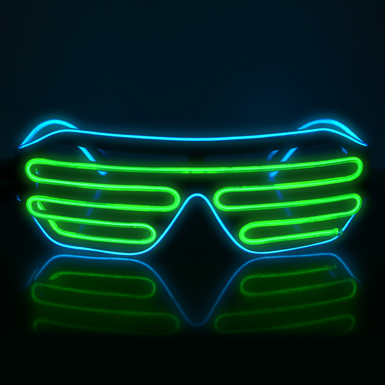 party plastic led accessories party flashing blue led shutter glasses