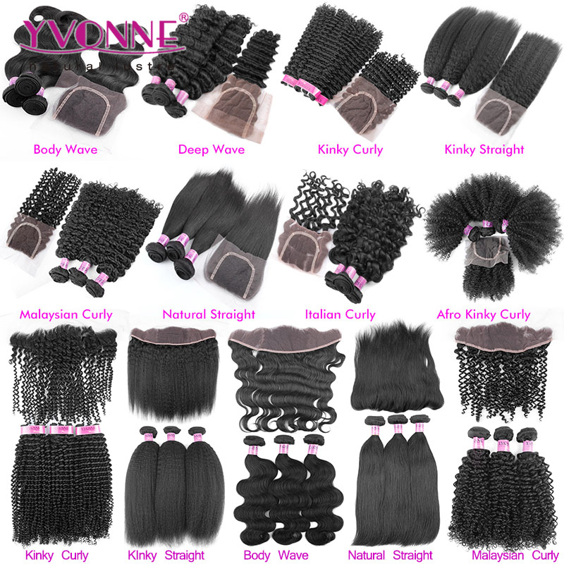 Yvonne Hair Different Types Of Curly Weave Hair Frontal Lace Closure