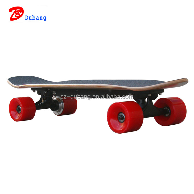 2017 The best-selling wireless control shortboard 200w single hub motor electric skateboard