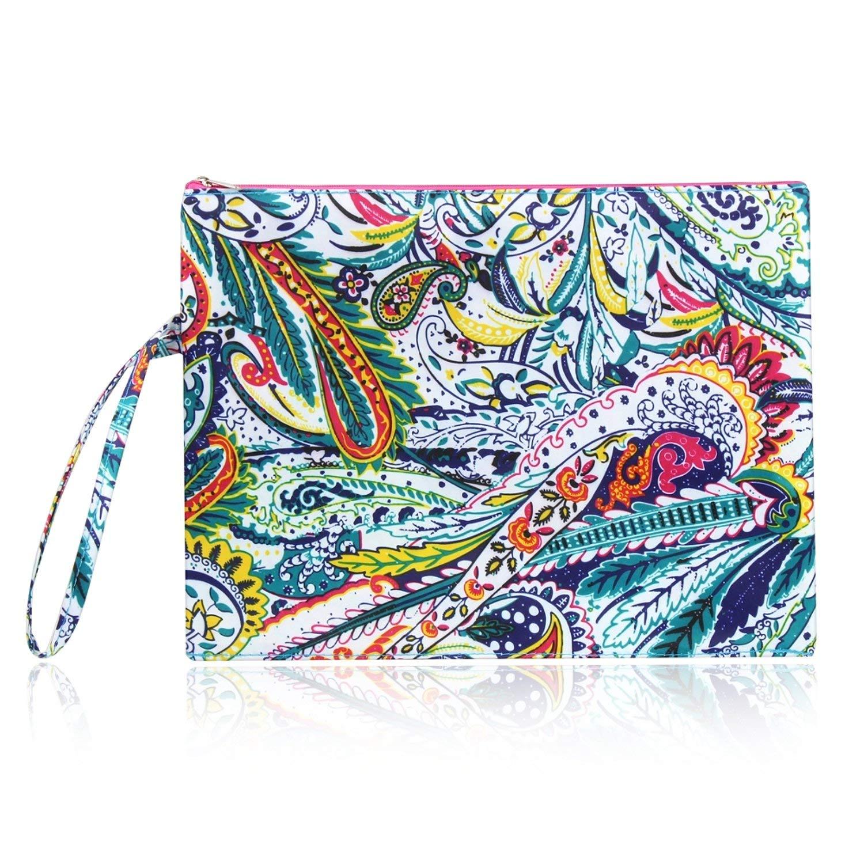 b52c9a95904b Get Quotations · Zodaca Multicolor Paisley Waterproof Bikini Wet Bag