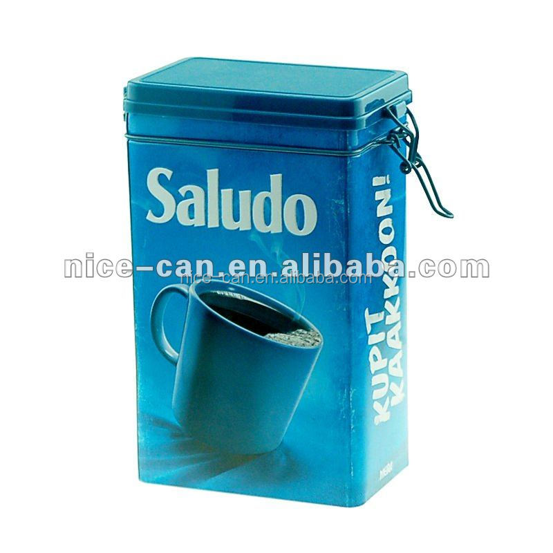 Tea Coffee Storage Tin Box With Plastic Lid And Iron Hoop Product On Alibaba