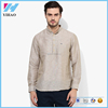 Men's Clothing Long Sleeve Beige Casual Kurta Designs For Men