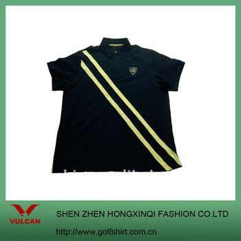 Popular brand quality golf apparel for men with yellow for Name brand golf shirts
