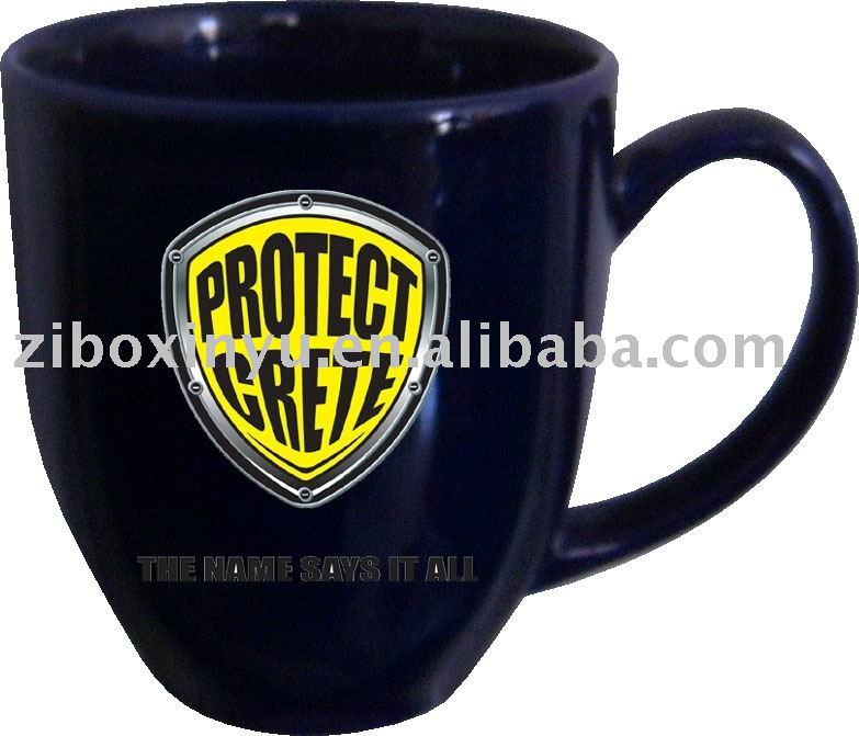 glossy coffe mug with logo