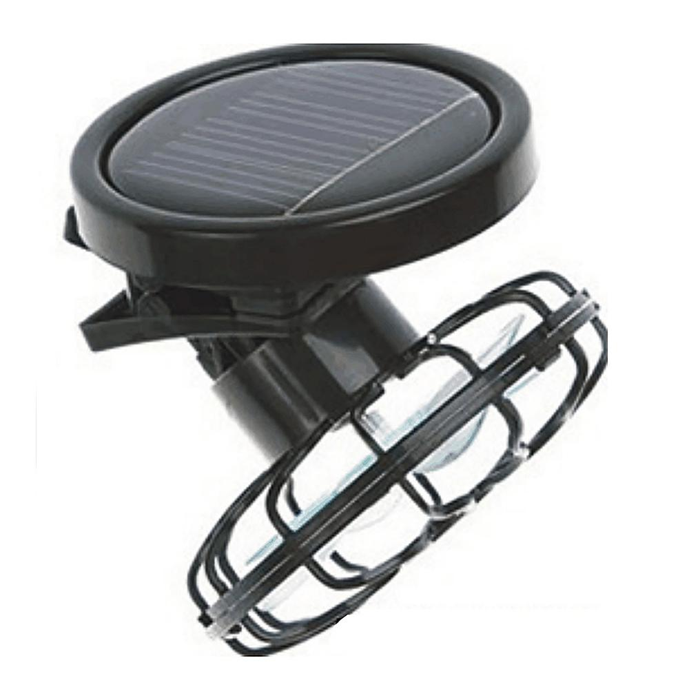 Portable Mini Clip-on Solar Sun Powered Fan Panel Black Cooling Cell Fan for Travel Camping Cooling Outdoor Fishing Solar Fan
