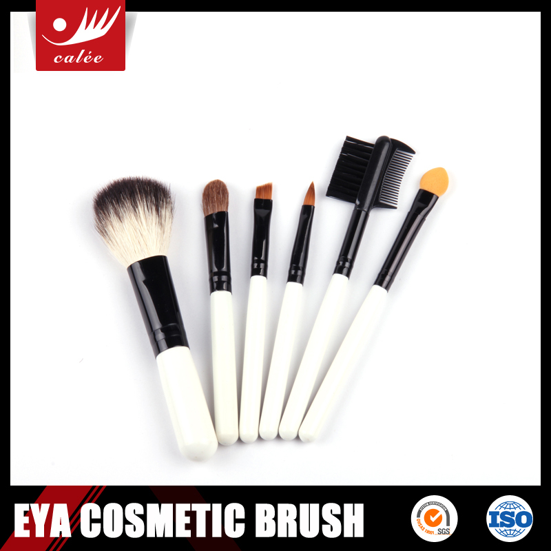 6pcs Mini Convenient Brush Set,Includes Powder Brush,Eye Shadow Brush and Eyebrow Comb