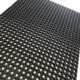 Oil proof bathroom holes rubber mat porous rubber mat with hollow